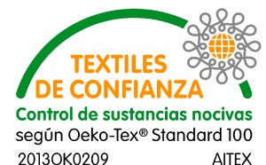 Logotip del certificat Oeko-Tex Standard 100 - Teixits Torné